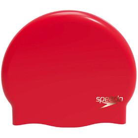 speedo Plain Moulded - Gorros de natación Mujer - rojo